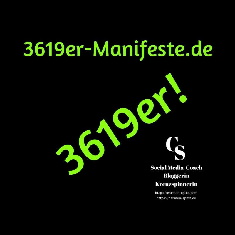 Logo der 3619er-Manifeste, Carmen Splitt, 2019